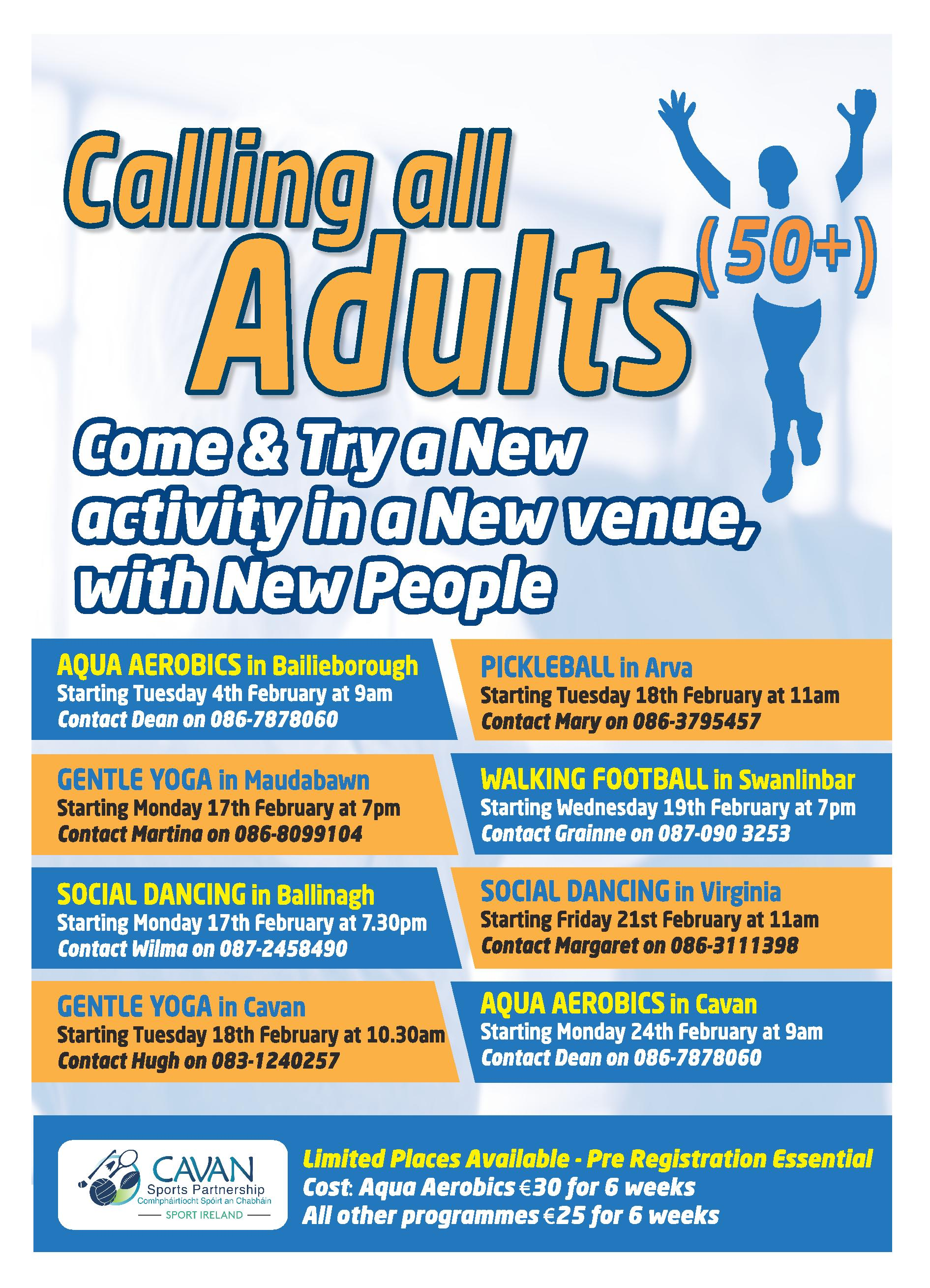Active Adults 50+ Actives for 2020