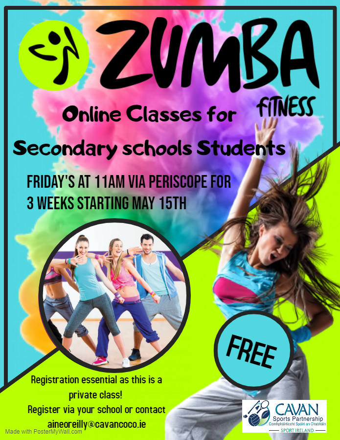 FREE Online Zumba Classes for Secondary School Students