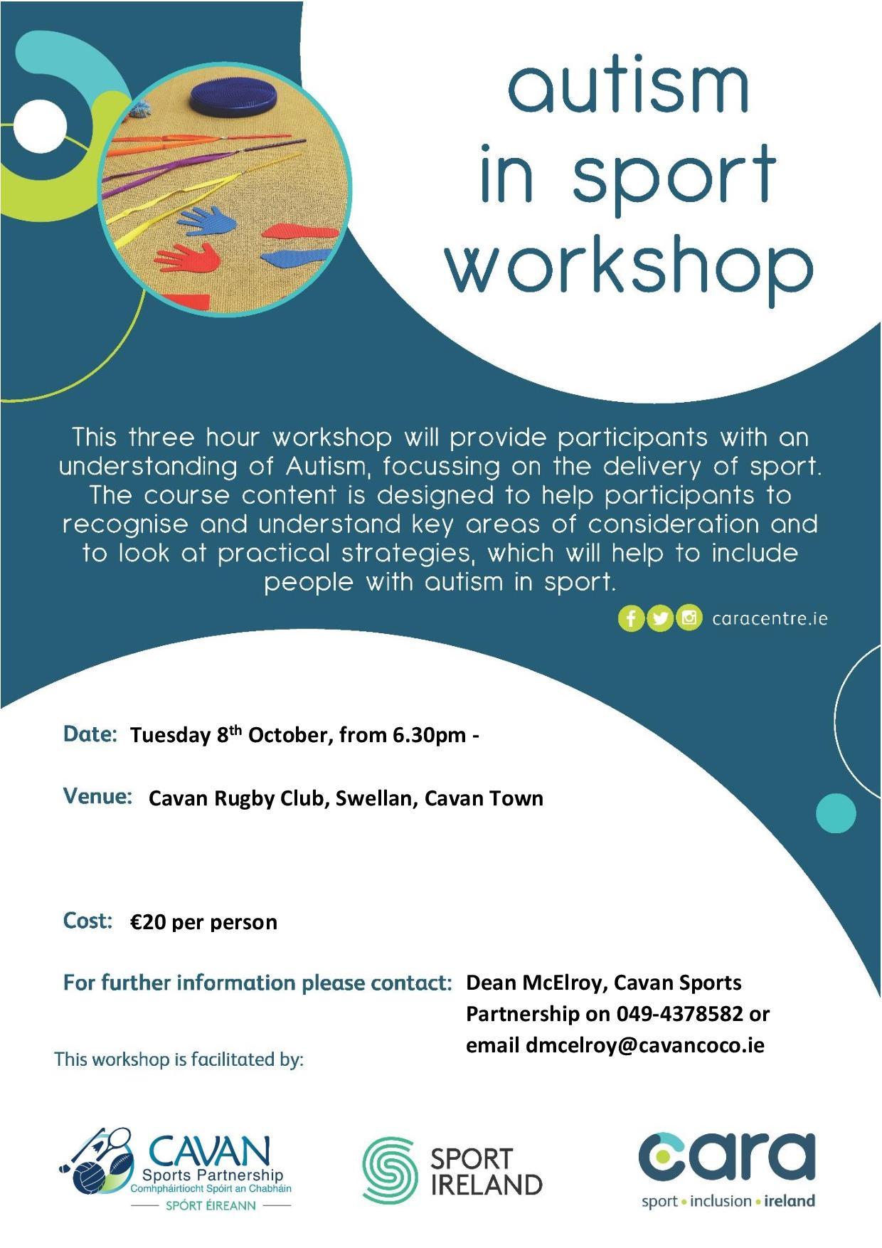 Autism in Sport Workshop - POSTPONED