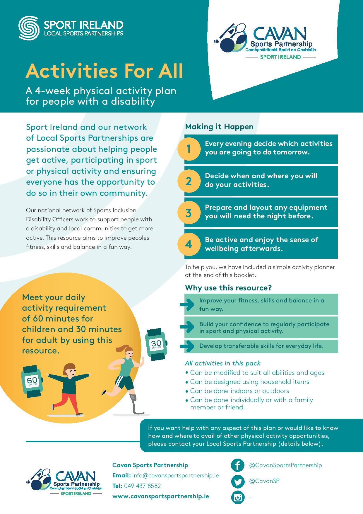 Physical Activity Plan for People with Disability