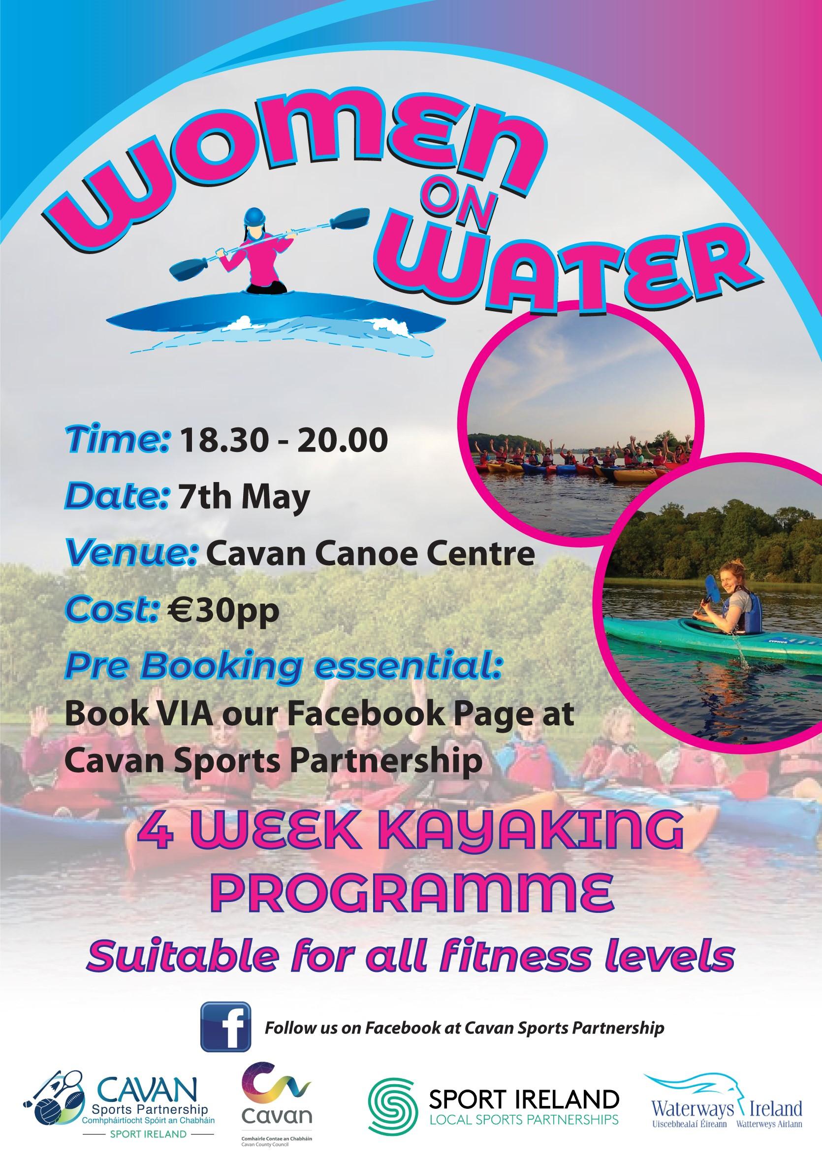 Women On Water 4 Week Kayaking Programme