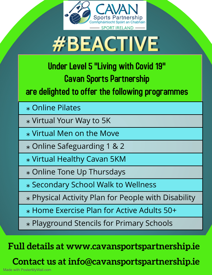 """#BeActive Under Level 5 """"Living with Covid"""""""
