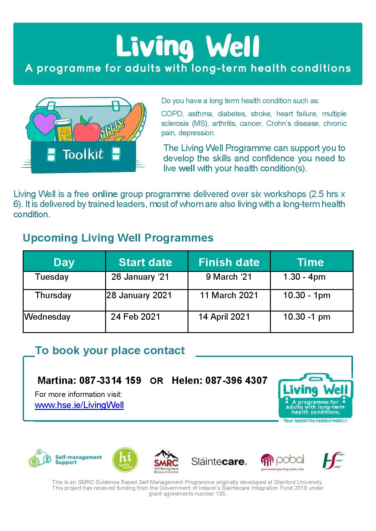 Living Well - a programme for adults with long term health conditions
