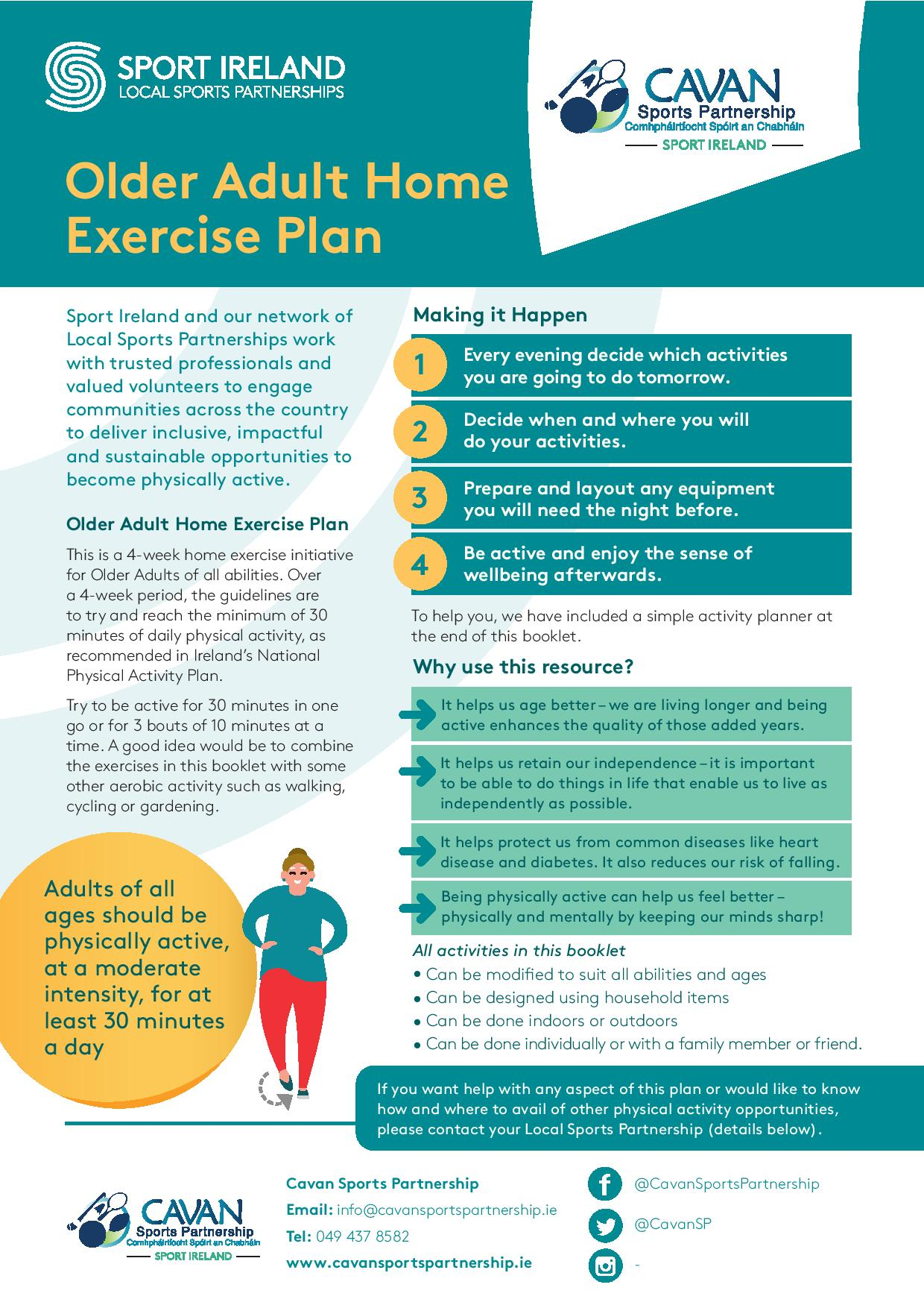 Home Exercise Plan for Active Adults 50+